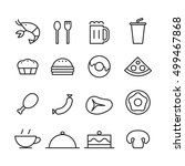 food icon set  vector | Shutterstock .eps vector #499467868