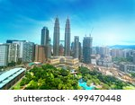 kuala lumpur  malaysia city...   Shutterstock . vector #499470448