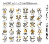 consumer behavior   thin line... | Shutterstock .eps vector #499474513