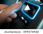 finger about to press a play... | Shutterstock . vector #499474930