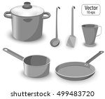 a set of kitchen items for... | Shutterstock .eps vector #499483720