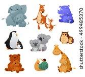 a vector illustration of wild... | Shutterstock .eps vector #499485370