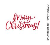 merry christmas vector... | Shutterstock .eps vector #499490620