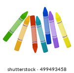 Cartoon Colorful Wax Crayons O...