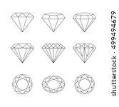 set of isolated gemstones... | Shutterstock .eps vector #499494679
