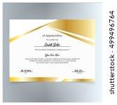 vector certificate template.... | Shutterstock .eps vector #499496764