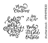 set of hand drawn vector quotes.... | Shutterstock .eps vector #499499830
