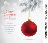 vector card with christmas... | Shutterstock .eps vector #499502650