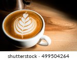 italian cappuccino at the bar... | Shutterstock . vector #499504264