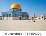 dome of the rock mosque on the... | Shutterstock . vector #499504270