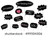 props for photos on weddings... | Shutterstock .eps vector #499504306