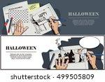 stock illustration. people in... | Shutterstock .eps vector #499505809