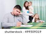 two little girls watching... | Shutterstock . vector #499509319
