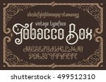 vintage vector typeface named ... | Shutterstock .eps vector #499512310