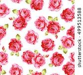 rose flower pattern  | Shutterstock .eps vector #499513588