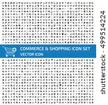 commerce and shopping icon set... | Shutterstock .eps vector #499514224