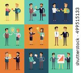 set of business concepts  in... | Shutterstock . vector #499515133