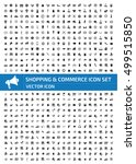 shopping and commerce icon set... | Shutterstock .eps vector #499515850