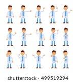 big set of doctor characters... | Shutterstock .eps vector #499519294