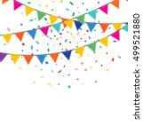 holiday background with bunting ... | Shutterstock . vector #499521880