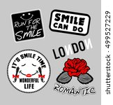 fashion patch badges with... | Shutterstock .eps vector #499527229