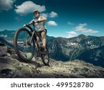 man in helmet and glasses stay... | Shutterstock . vector #499528780