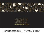 happy new year luxury gold... | Shutterstock .eps vector #499531480