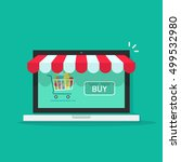concept of online shop  e... | Shutterstock . vector #499532980