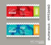 modern gift voucher certificate ...   Shutterstock .eps vector #499536460