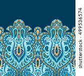 indian ethnic seamless birder... | Shutterstock .eps vector #499536574