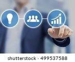 success in business originates... | Shutterstock . vector #499537588