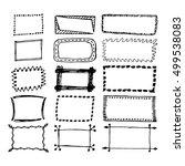 hand drawn rectangle frames set.... | Shutterstock .eps vector #499538083