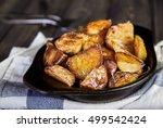 delicious hot baked potato... | Shutterstock . vector #499542424