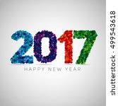 happy new year 2017. colorful... | Shutterstock .eps vector #499543618
