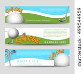 golf club banners template... | Shutterstock .eps vector #499544959