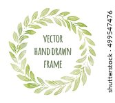 hand drawn wreath set made in... | Shutterstock .eps vector #499547476