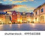 scenic summer night    big... | Shutterstock . vector #499560388