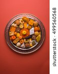 mix mithai or indian milk made... | Shutterstock . vector #499560568