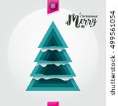 abstract christmas tree made... | Shutterstock .eps vector #499561054
