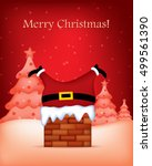 merry christmas greeting card... | Shutterstock .eps vector #499561390
