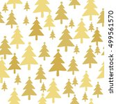 christmas tree seamless pattern ... | Shutterstock .eps vector #499561570