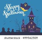 vector halloween illustration...   Shutterstock .eps vector #499562509