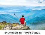 young man on the top of... | Shutterstock . vector #499564828