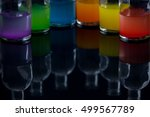 apothecary  laboratory bottles... | Shutterstock . vector #499567789