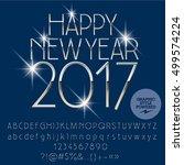 vector luxury silver happy new... | Shutterstock .eps vector #499574224