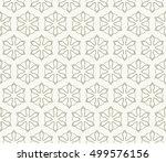seamless geometric line pattern ... | Shutterstock .eps vector #499576156