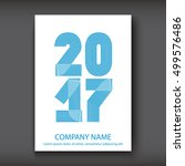 cover annual report numbers... | Shutterstock .eps vector #499576486