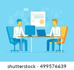 vector cartoon illustration in... | Shutterstock .eps vector #499576639