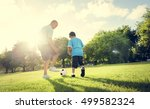 soccer football field father... | Shutterstock . vector #499582324