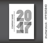 cover annual report numbers... | Shutterstock .eps vector #499585840